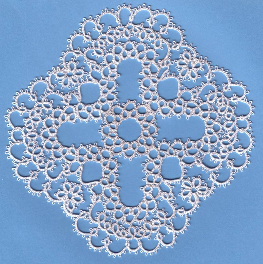 Marja doily by Jan Voskes in remembrance of his wife, shared from the files of the Online Tatting Class